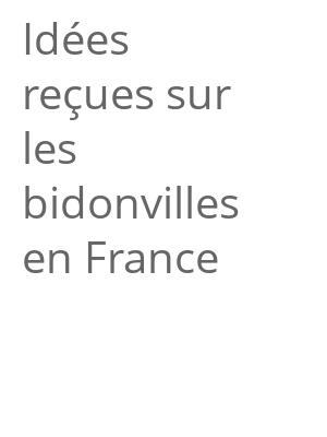 """Afficher """"Idées reçues sur les bidonvilles en France"""""""