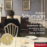 """Afficher """"Schumann: L'amour et la vie d'une femme & Liederkreis Op. 39 - Mozart, Verdi & Tchaïkovsky:Airs d'opéras(Les indispensables de Diapason)"""""""